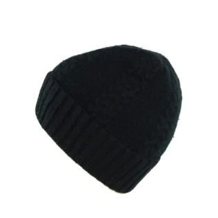 Angorkowa czapka czarna