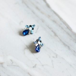 Kolczyki Blue Fly