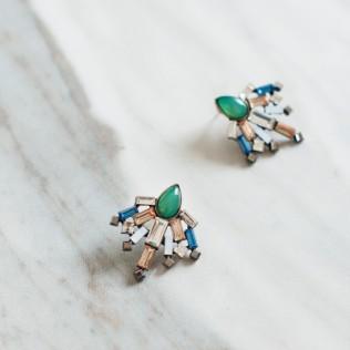 Kolczyki zielone dmuchawce