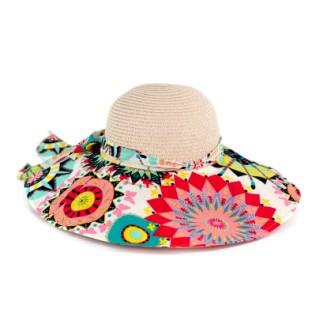 Kolorowy, kwiecisty kapelusz NA LATO