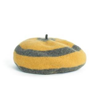 Wełniany beret Pasiak