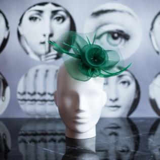 Fascynator Green flower