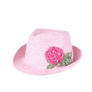 Kapelusz młodzieżowo-dziecięcy Róża w perłach