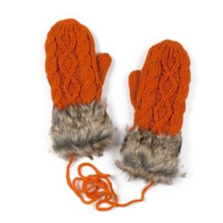Rękawiczki jednopalczaste i futerko