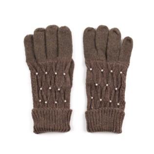 Wełniane rękawiczki z perełkami