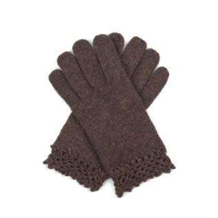 Wełniane rękawiczki z koronką