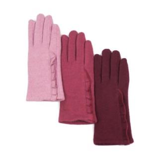 Ocieplane rękawiczki z falbanką