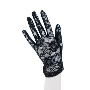 Rękawiczki koronkowe w duże kwiaty