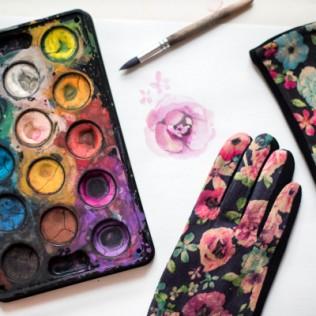 Rękawiczki Romantyczne kwiaty