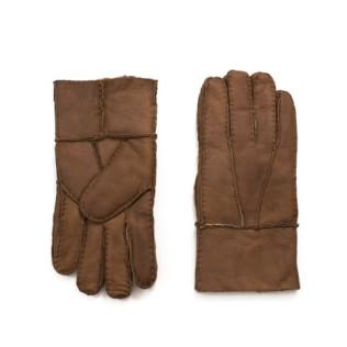 Męskie rękawiczki skórzane Kożuchowe