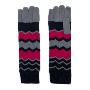 Długie rękawiczki-zygzaki