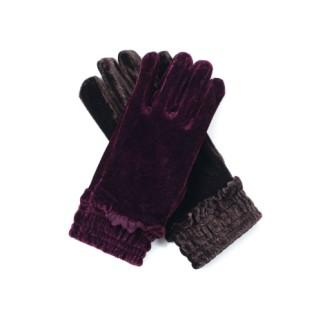 Rękawiczki Welurowa falbanka