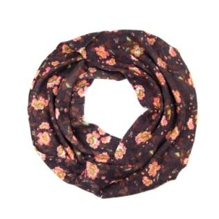 Moherkowy szalik-komin Kwiatowy