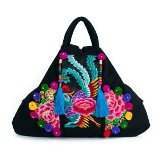 Wielka, haftowana torba